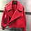 Thumbnail: Leather Campera Cuero Mujer Coat