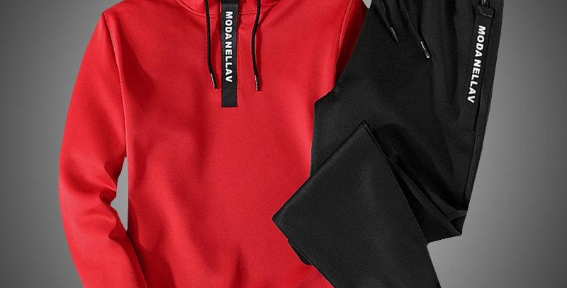 Men Clothing Set Sportswear Suit Sweatshirts Sporting Sets  Hoodies+Pants