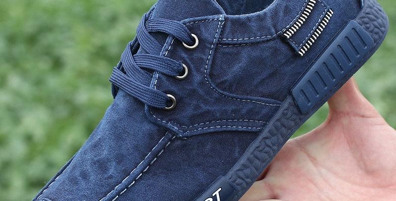 Canvas Men Shoes Denim Lace-Up Men Casual Shoes