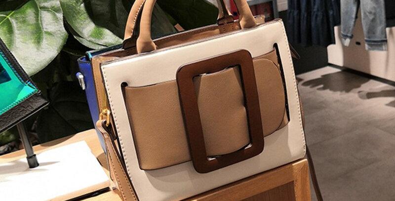 Burminsa Multicolor Small Women Handbags Wide Belt