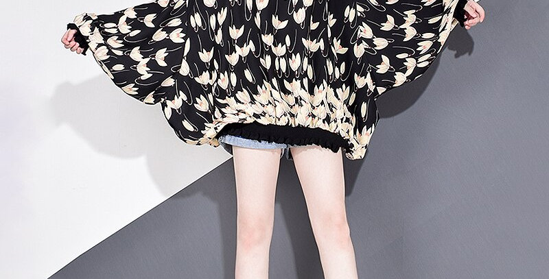 Chiffon Print Pattern Blouse