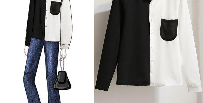 Casual Long-Sleeve Shirt Plus Size