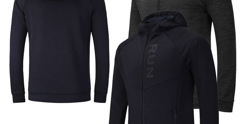 Fitness Jacket Men Running Long Sleeves Quick Dry Cycling