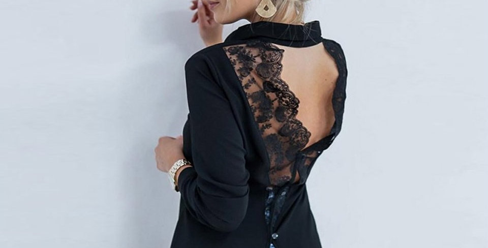 Lace Backless Blouse
