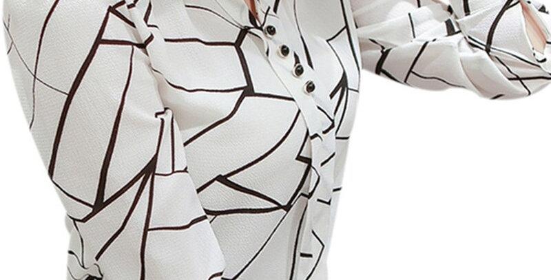Women Chiffon Blouse Shirt  Female Clothing Long Sleeve Blusas Chiffon