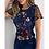 Thumbnail: Elegant Floral Embroidery Sheer Mesh