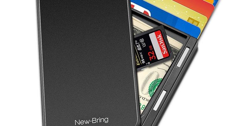 New-Bring Card Holder Men Purse Carbon Fiber Minimalist Wallet