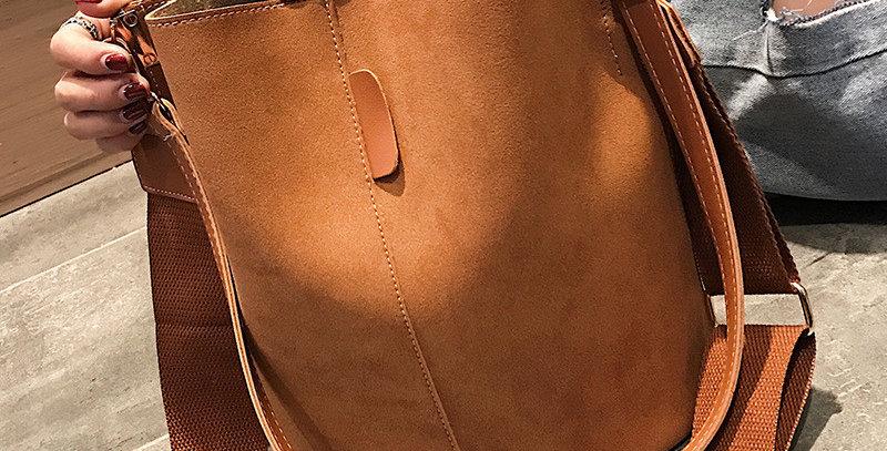 Bag Women Bucket Shoulder Bag Large Capacity Vintage