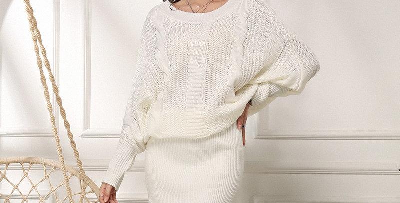 Elegant Plus Size Sweater Dress - Knitted Dress