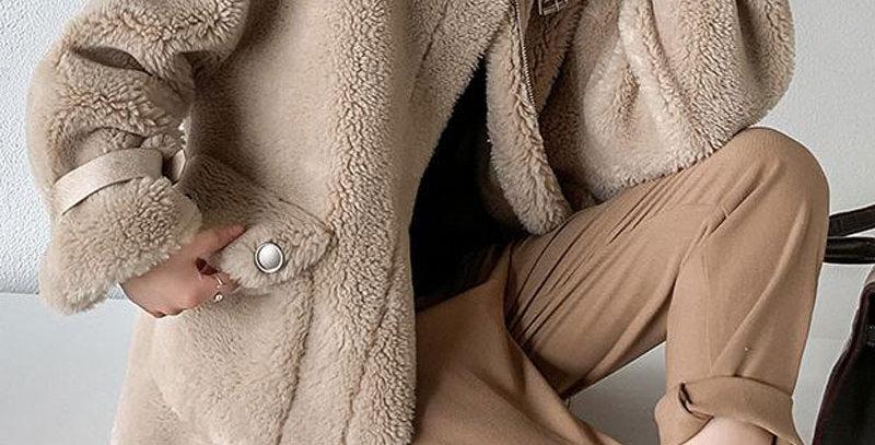 Women's Faux Fur Sheepskin Coat