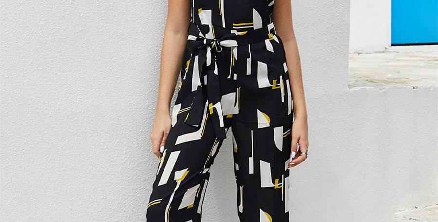 Jumpsuit Women Streetwear O-Neck
