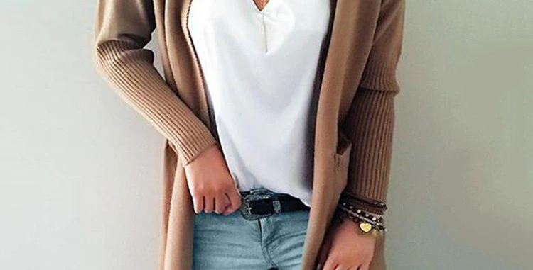 Cashmere Solid Knit Sweater
