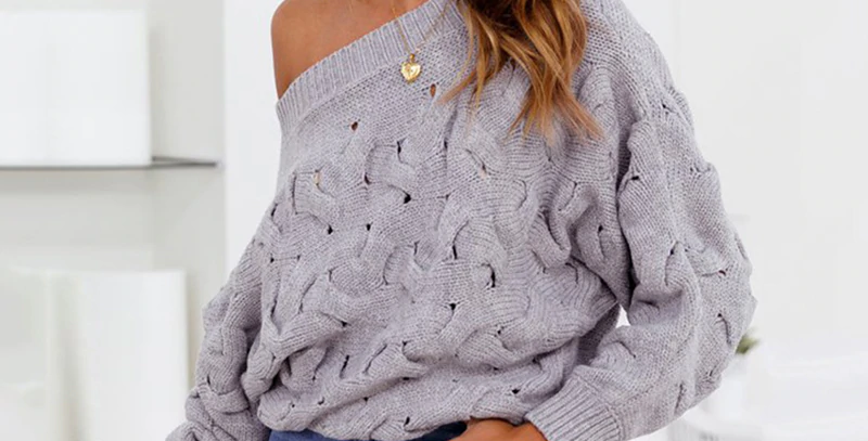 Women Off Shoulder Pullovers