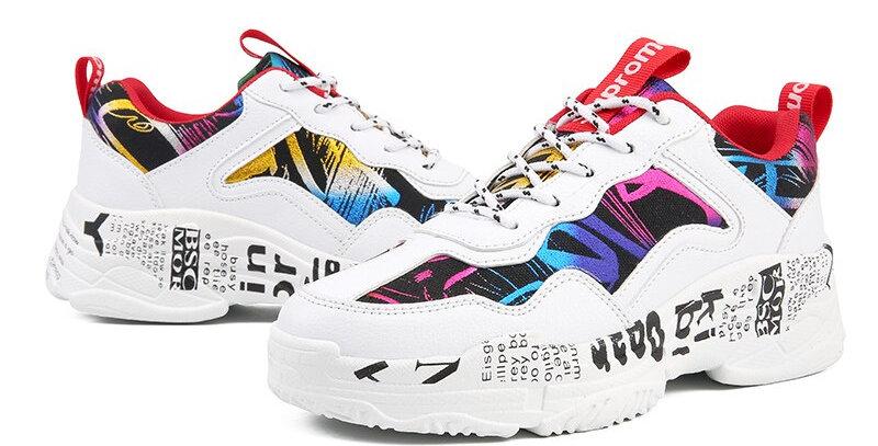 Canvas Shoes Woman Platform Sneakers