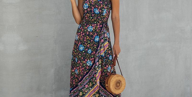 Dress Women Sleeveless Cotton v Neck