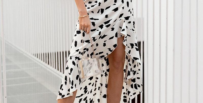 High Waist Leopard Printed Women Wrap Skirt
