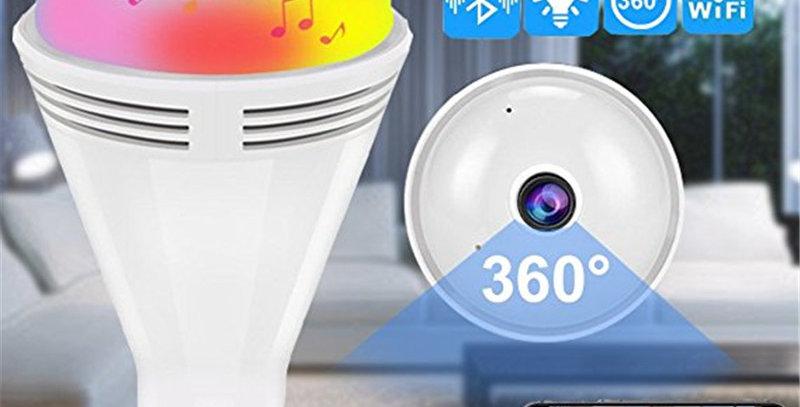 Security Camera 960P HD Bluetooth Music Speaker IP Camera 360 Panoramic Video