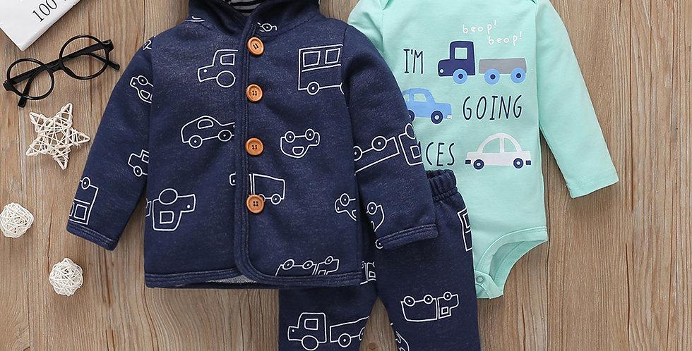 Coat+bodysuit+pants Newborn 6-24M