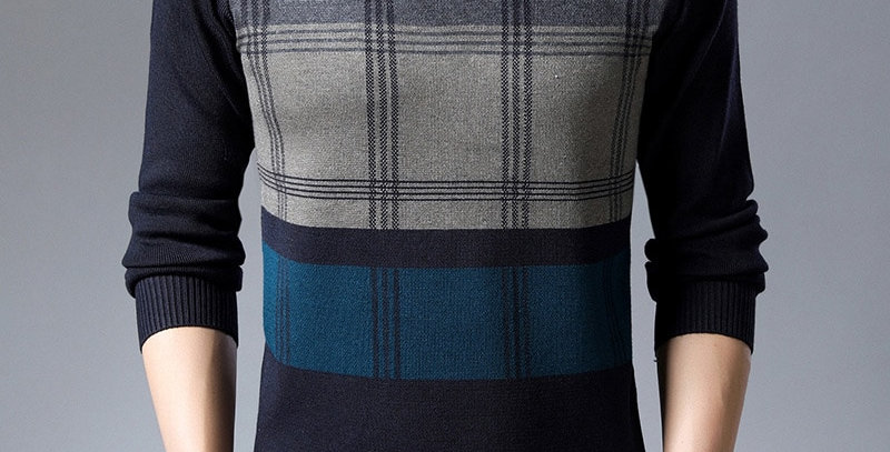 Sweater Mens Pullovers Warm Slim Fit Jumpers Knit Woolen