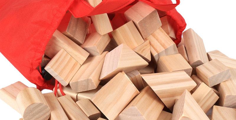 Wooden Blocks Learning Geometric Shape 100pcs/Set