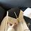 Thumbnail: Hexagon Straw Leather Handbag