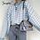 Thumbnail: Geometric Khaki Knitted Sweater