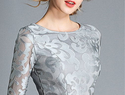 Lace Dress Embroidery Empire