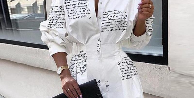 Mini Short Shirt Dress Women