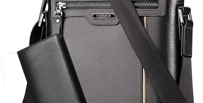 Man Leather Bag VORMOR Brand Shoulder Crossbody Bags PU