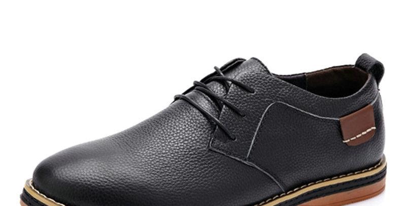 DEKABR Men Flats Casual New Genuine Leather Flat