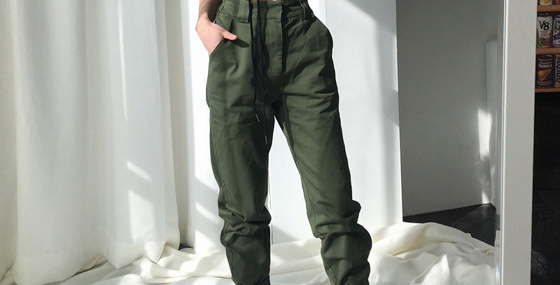 High Waist Pants Camouflage Loose Joggers Women