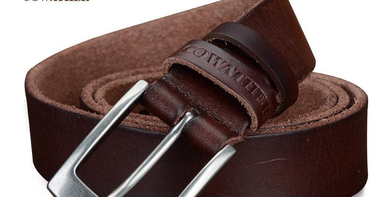 COWATHER Top Cow Genuine Leather Men Belts Jeans Belt