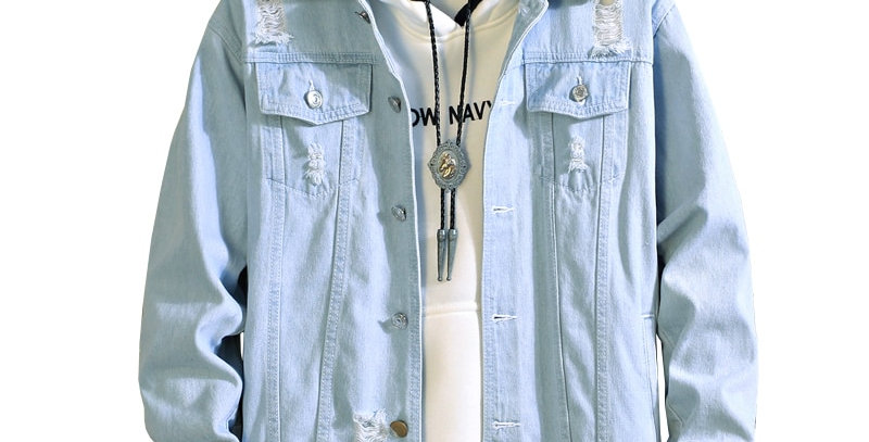 Men Jeans Jacket Mens Bomber Jackets Men Hip Hop Man Vintage  S XL XXL