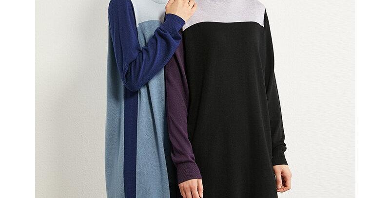 Dress Temperament Contrasting Color
