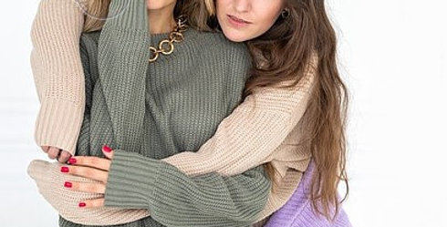 Knitted Sweater Womens Round Neck Pullovers