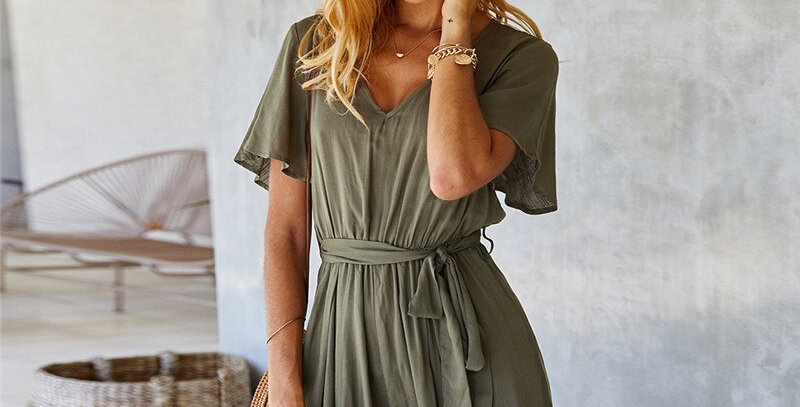 Casual Solid Jumpsuits Women