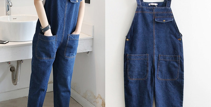 KarSaNy Denim Overalls Plus Size