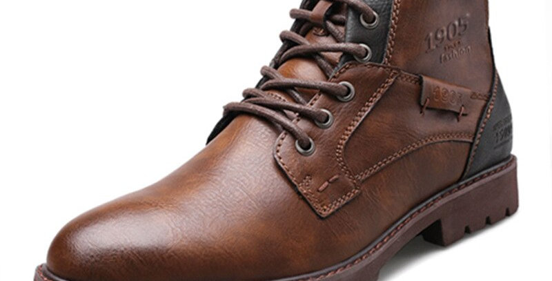 Men Leather Boots Vintage Style Men