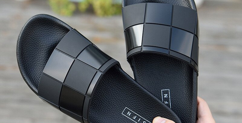 ASIFN Men/Women Slippers Mosaic Lattice Flip Flops