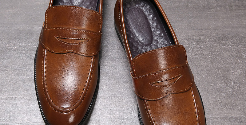Leather Men Dress Shoes Oxfords Classic