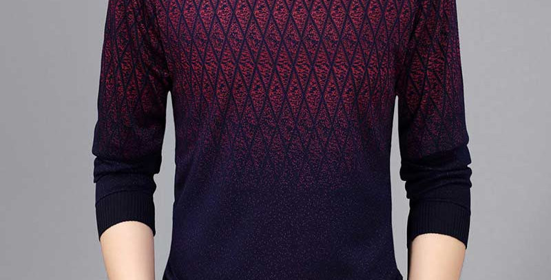 Casual Social Argyle Pullover Men Sweater Shirt Jersey Clothing Pull
