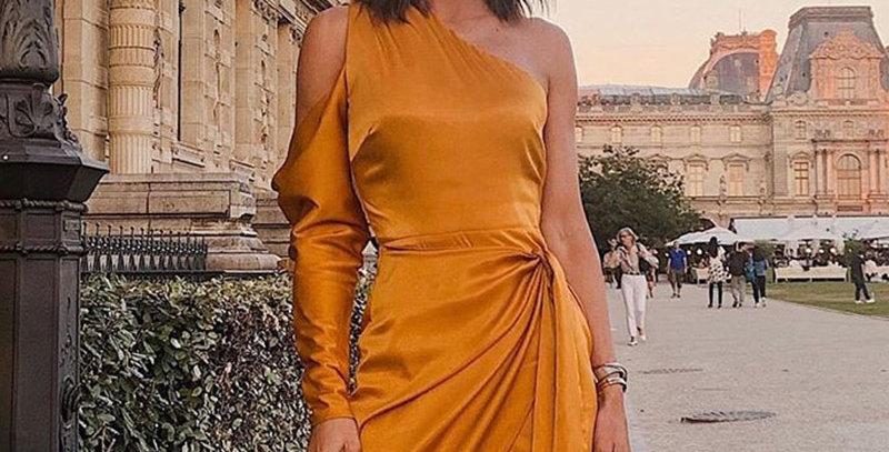 Mini Dresses Long Sleeve Asymmetrical