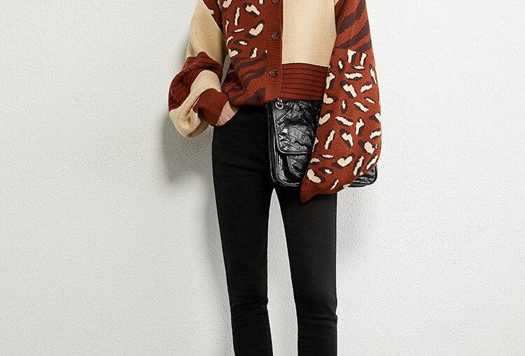 Printed Loose Women's Sweater
