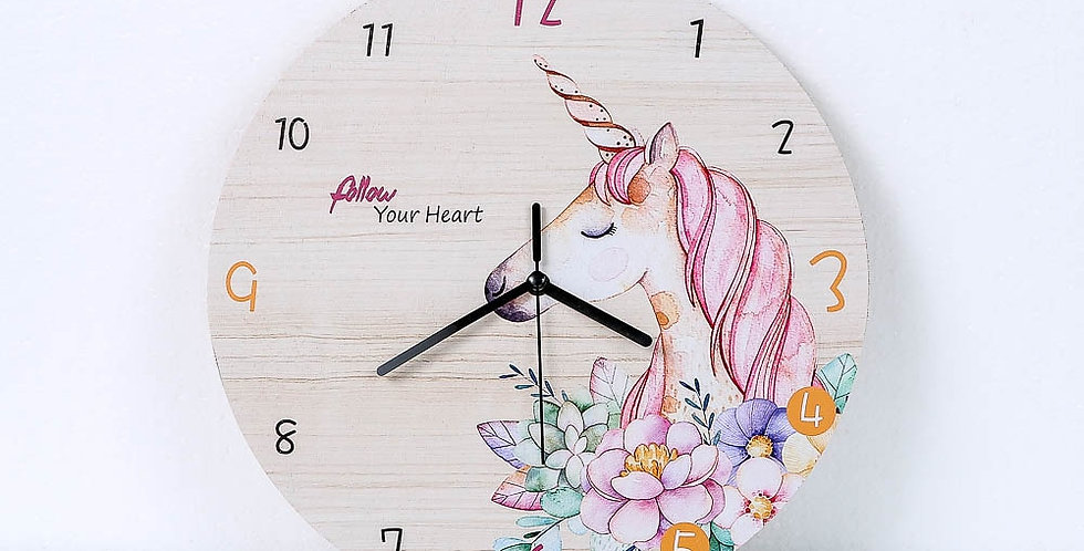 Horse Flower Wall Clock