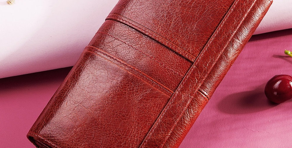 KAVIS Genuine Leather Women Clutch Wallet