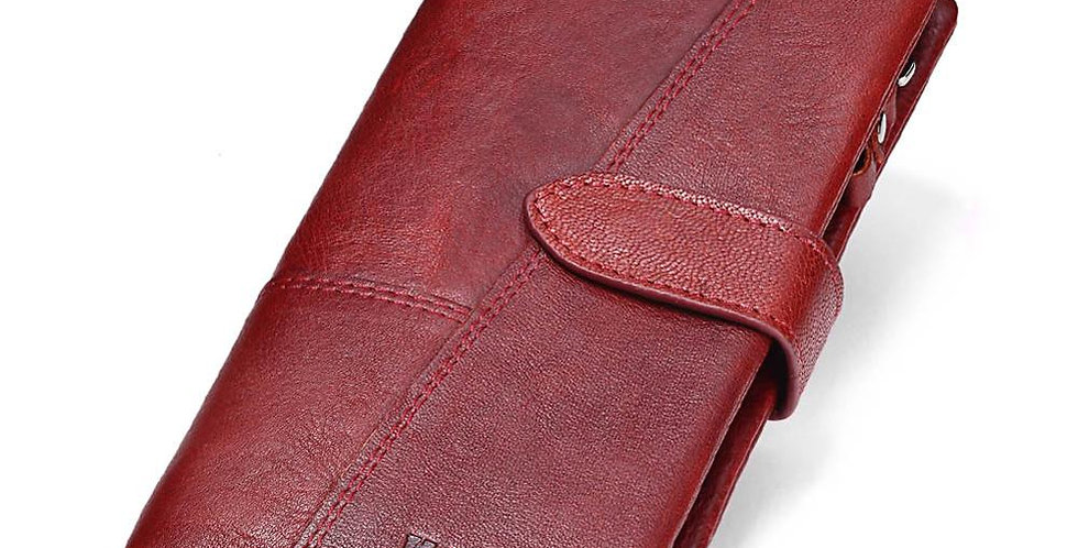 KAVIS Genuine Leather Women Wallet