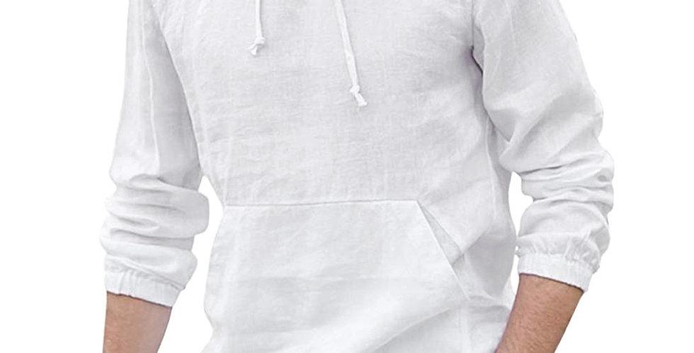 Mens Baggy Cotton Linen Shirt