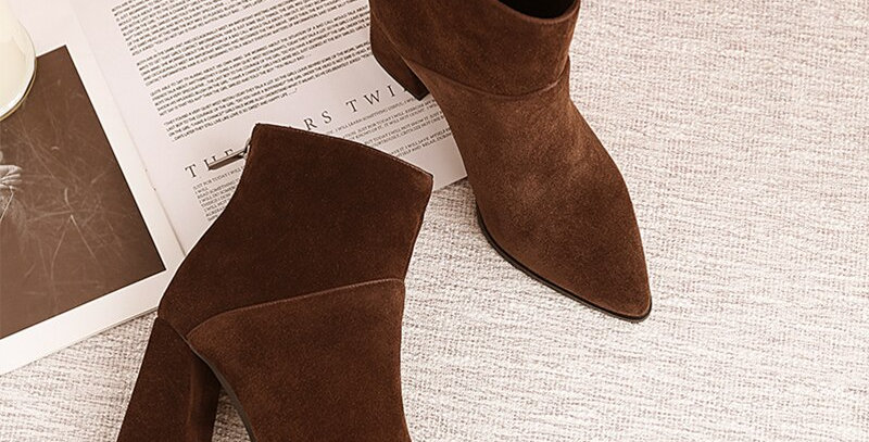 Women Ankle Boots Genuine Leather Plus Size