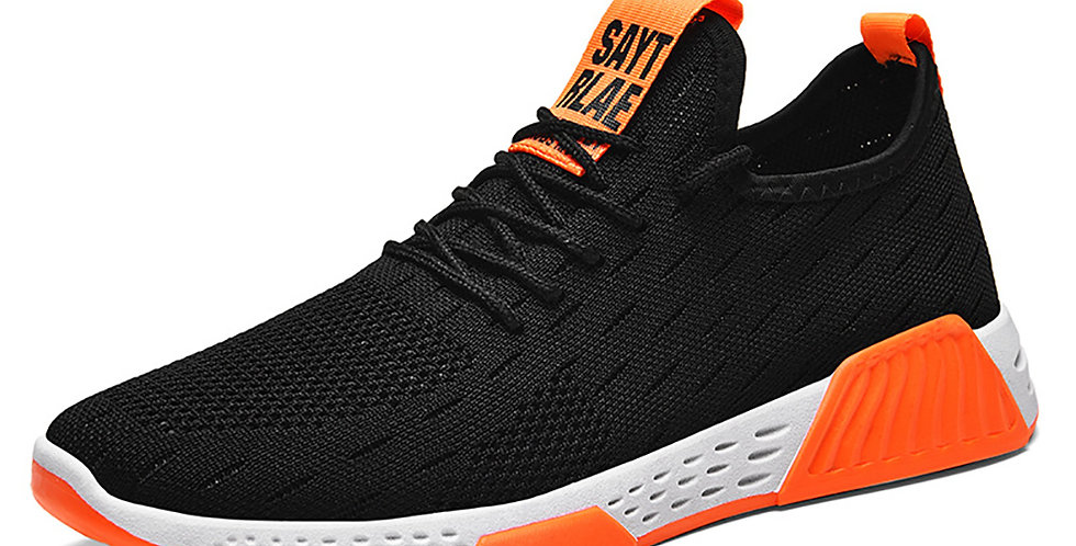 Men Shoes  Mesh  Shallow  Lace-Up  Solid  Designer Sneakers