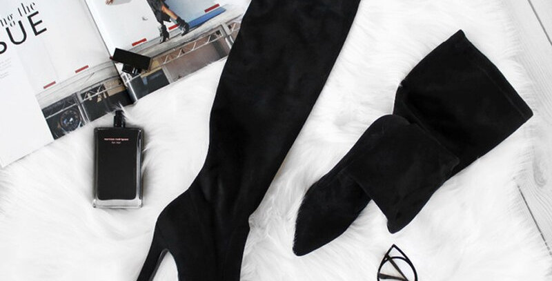 Over the Knee High Boots Slip on